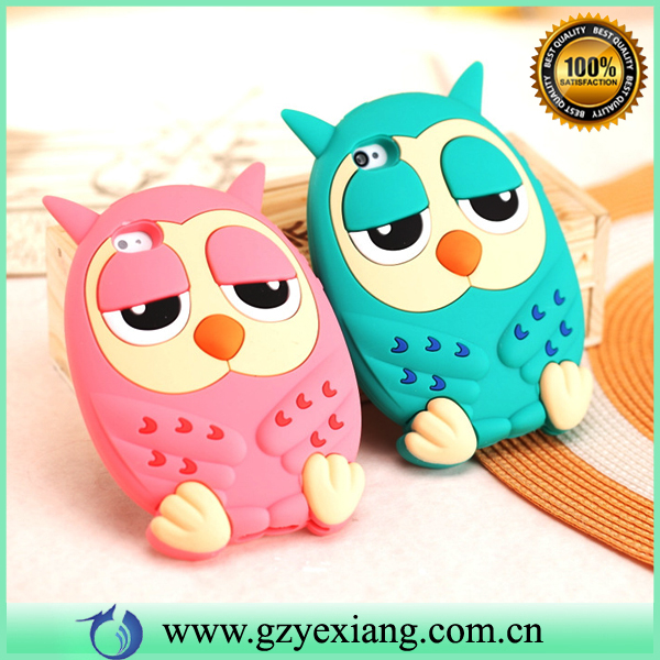 Soft Silicon Owl 3D Animal Back Cover Case For Iphone 6 Plus Cute Phone Case