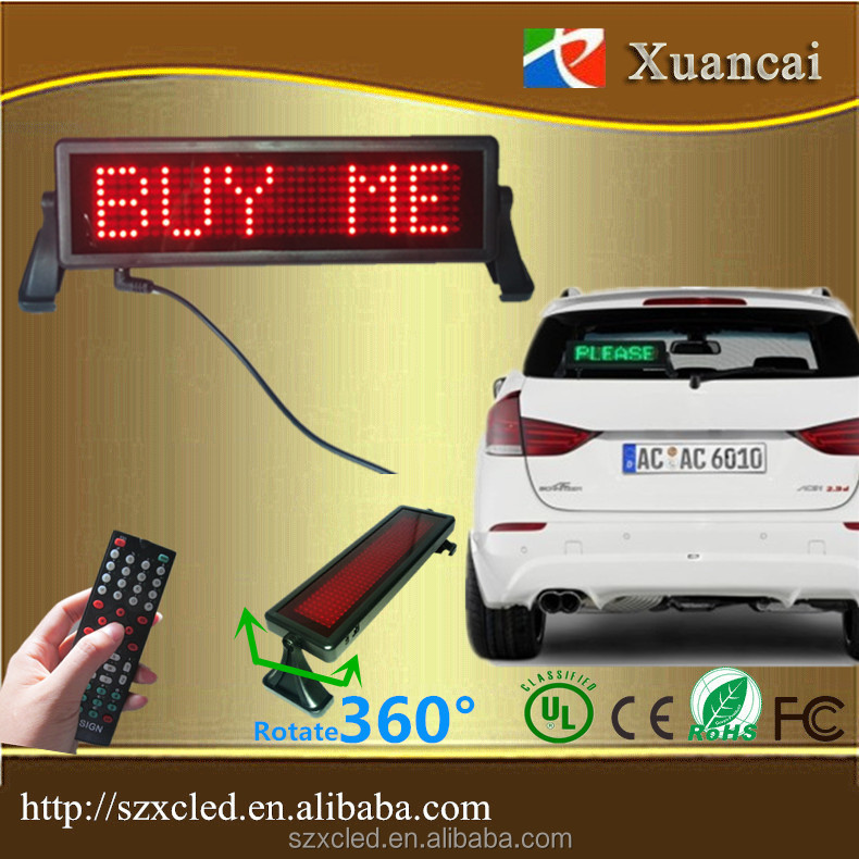 Semi-outdoor car led brake light led car display taxi car led running message display