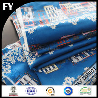 Factory custom new design high quality digital printing cotton fabric curtain