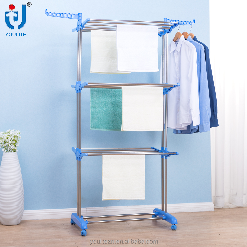 Movable multipurpose outdoor hanging clothes rack