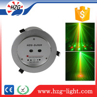 Stage decoration items RG night club ceiling light Green & Red star laser projector light fixture of ceiling