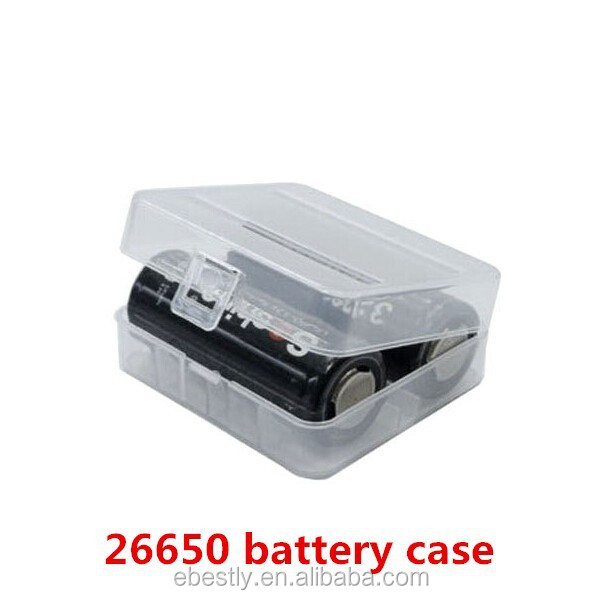 26650 Battery case holds 2 batteries Hard Plastic Case Holder Storage Box for 26650 Battery