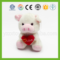 Cheap wholesale white toy plush pig for chilren