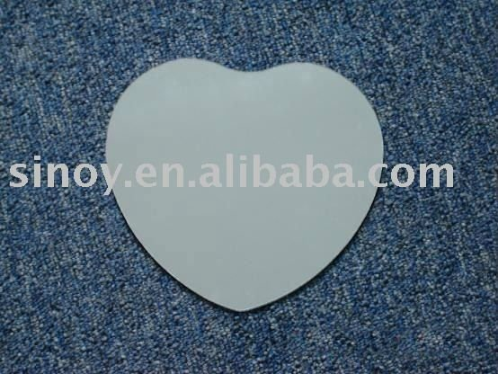 3mm Heart Shaped Silver Glass Mirror