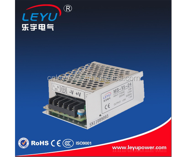 low cost Mini size 15w 12v single output switching power supply with aluminum housing