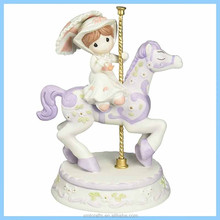 Resin Mary Poppins on Carousel Statue, Resin Precious Moments Figurine