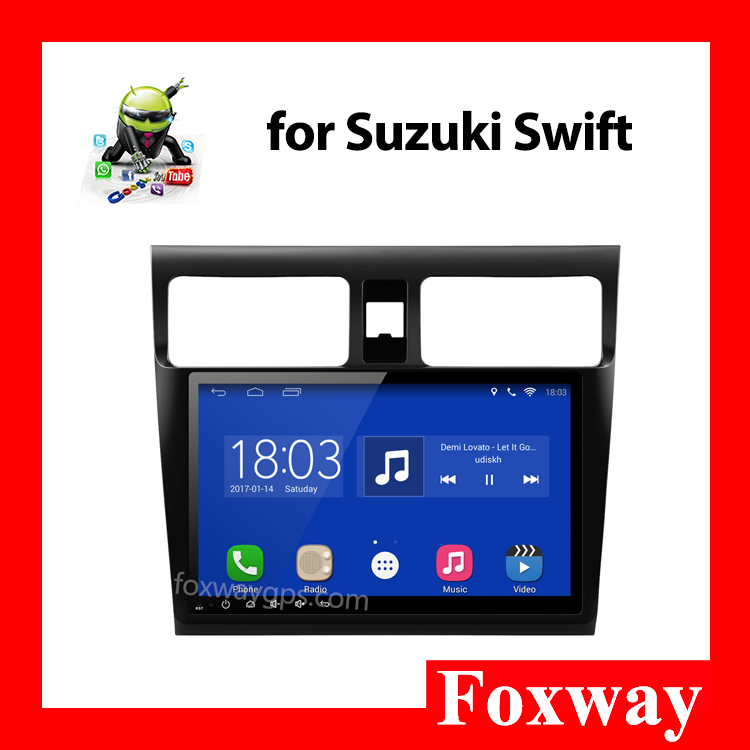 Quad Core 1024*600 HD Screen 2Din Android 4.4 suzuki swift car dvd gps navigation system
