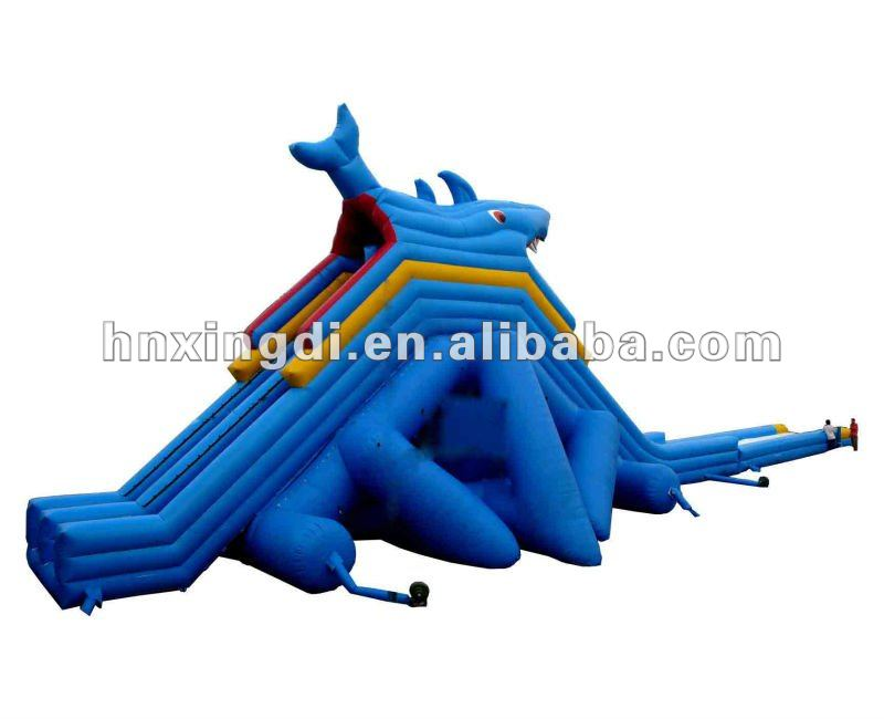 Amusement Park Chinese Dragon giant inflatable water slide for adults