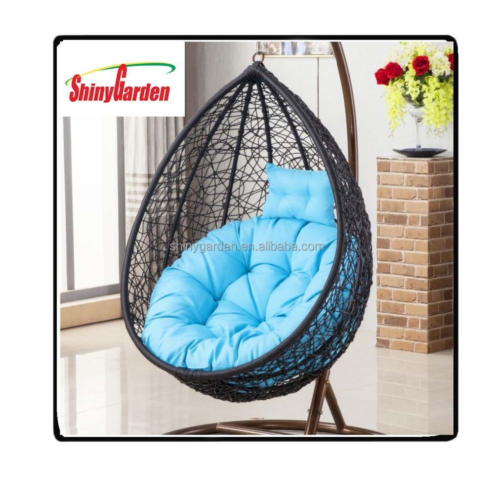 Outdoor Synthetic Rattan Swing Egg Chair