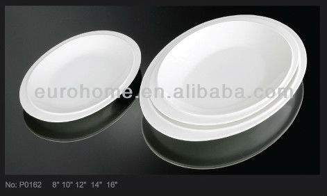 hotel used ceramic microwave dish plate for weddings