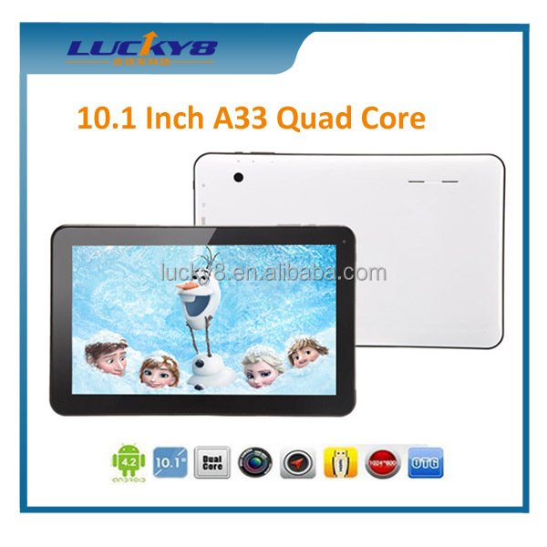 Thin and light Capable 10.1 inch quad core Android 4.4 16GB play games vedio 10 hours standby tablet pc two usb port
