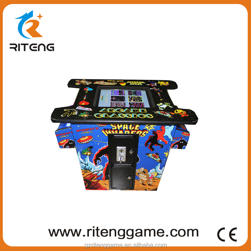 2016 coin operated video coctail arcade game table for home