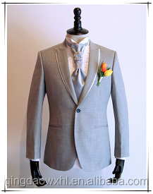 New pant coat design photo grey weeding suit men
