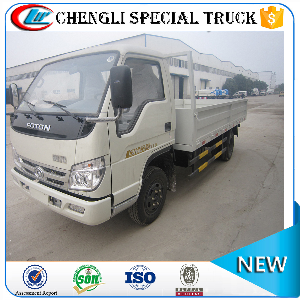Foton 130hp 4*2 5ton 5000kg Dry Cargo Box electric mini truck for sale
