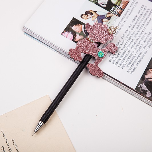 Shiny animal with plastic holder promotional pens for present