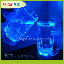 Promotional gift plastic cups drinking cups, led flashing glasses/cup