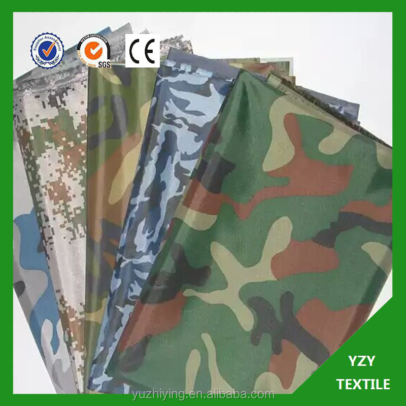 tafefta 210t heavy waterproof PVC coated custom print camping tent fabric