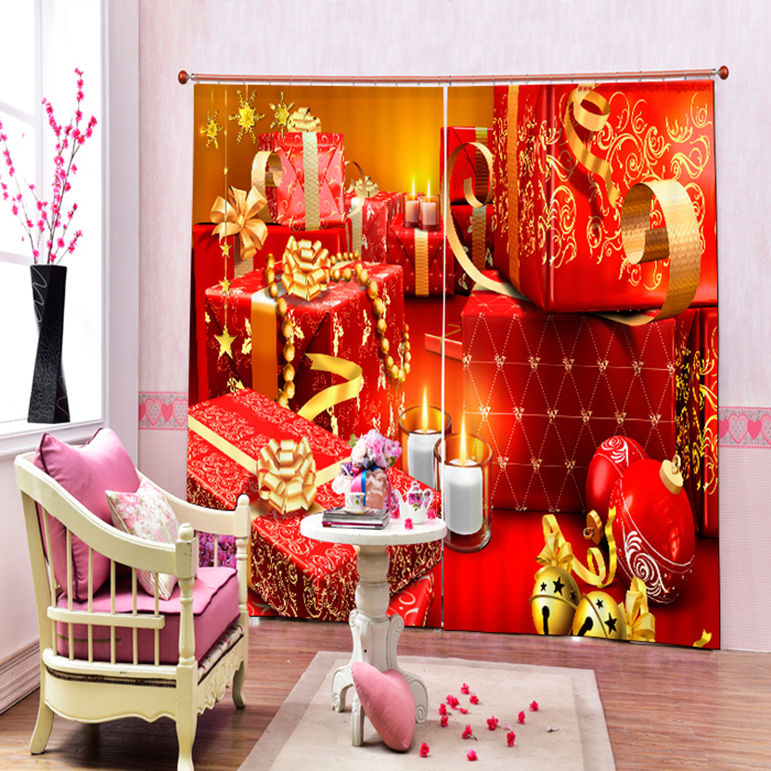 Curtain Fashionable Office Living Room Christmas Decoration Design Polyester Fabric Window Curtain