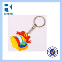 promotional key chain ring christmas bells with good quality and good price