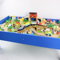 100pcs Wooden Kids Train Toy With