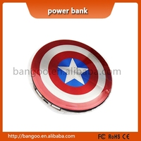 Top grade marvel power bank 3500mah handy power bank christmas 2015