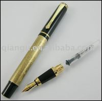 Baoer metal fountain/roller pen with erosive eight horses