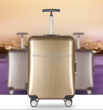 abs+pc shiny surface brush finish trolley luggage suitcase