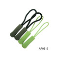 Wholesale plastic rubber zipper puller for garment accessories