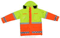 customized polyester PVC waterproof reflective safety coat,safety jackets
