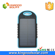 2015 Hot selling dual USB 5V 2A portable 12000mah waterproof solar power bank for mobile charger