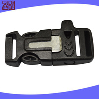Fashion plastic buckles for backpacks,side release whistle buckle,plastic curved buckle