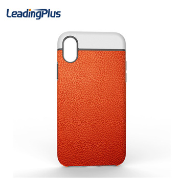 2017 Wholesale Newest Product Smooth PU Leather Soft Cover Case for iPhone X