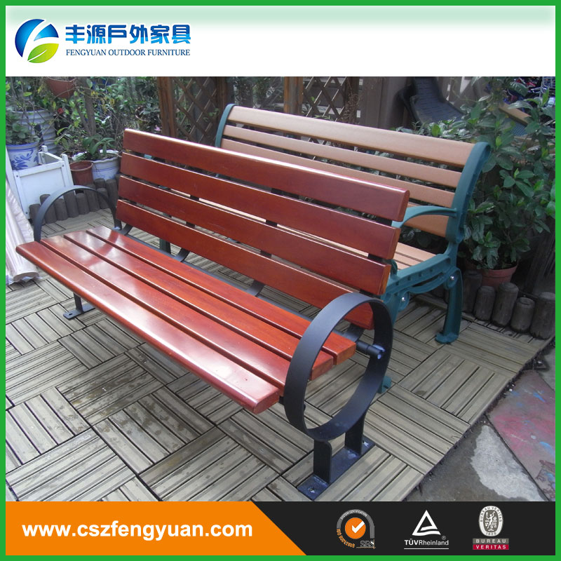 Hot sale perforated wrought iron metal garden bench Alibaba metal outdoor furniture
