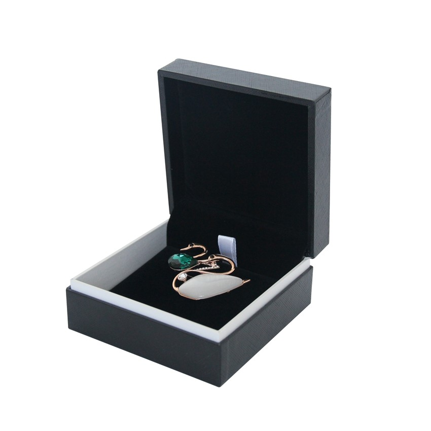 Plastic jewelry gift box with logo printed
