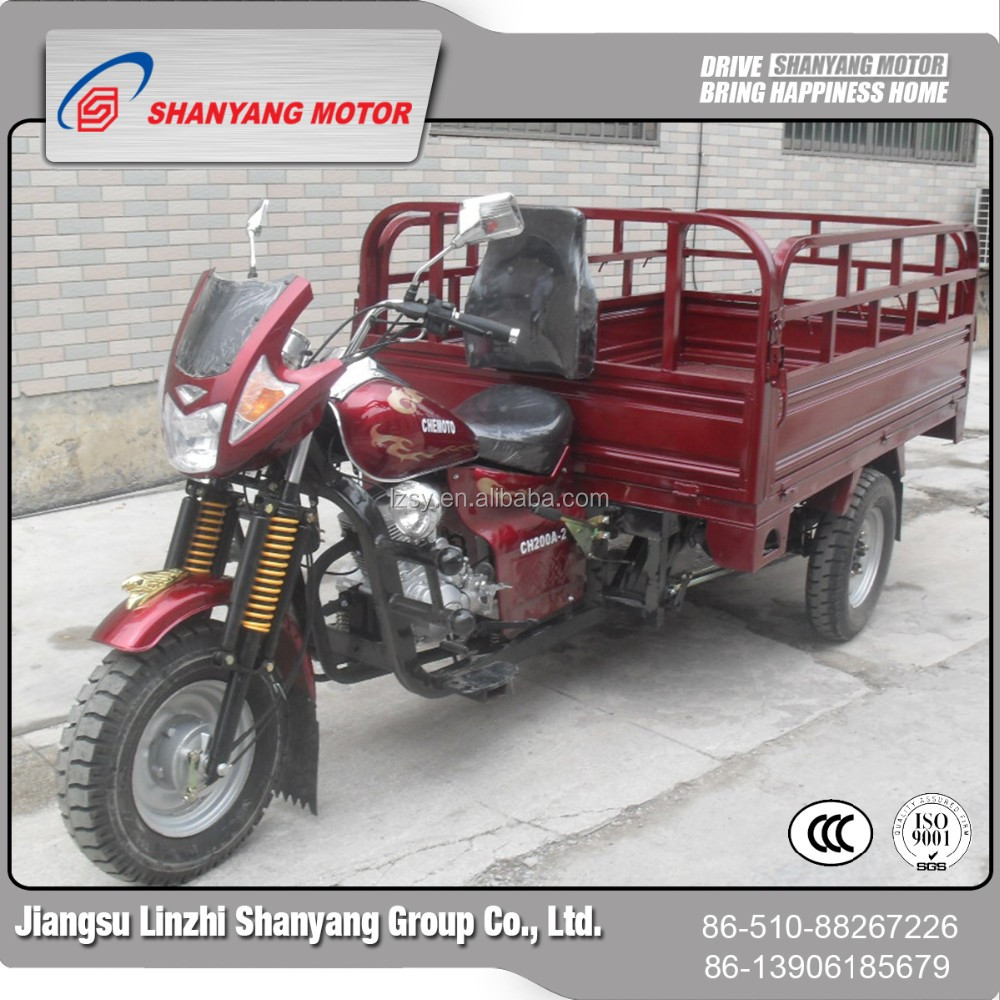 150cc Air Cool Bajaj Type 3 Wheeler 4 Stroke Moto Taxi With LZSY Engine, Adult Tricycle