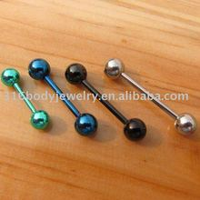 GL05014 fashion stainless steel colored industrial barbells