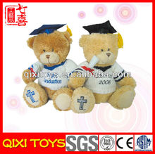 Teddy bear with knitted sweater plush graduation bear