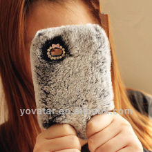 Warm Soft Rabbit Fur/Hair Case For Apple iphone 5 5G 4 4S