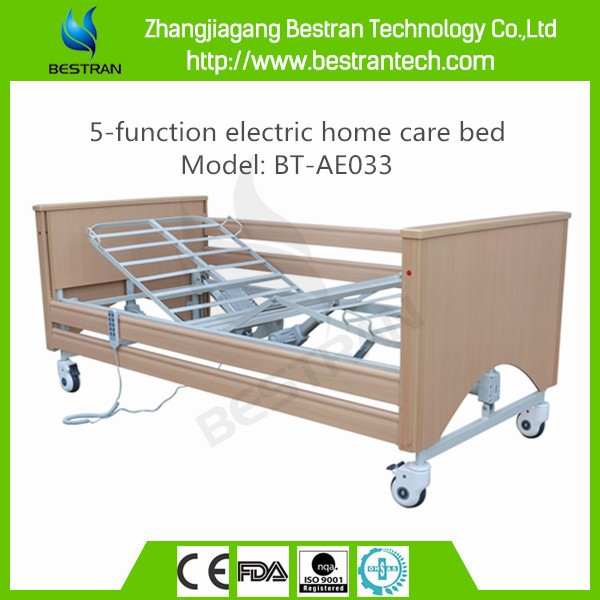 China BT-AE033 5-function electric home care bed 3-cranks bed medical