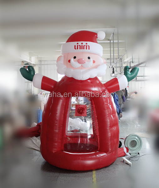Christmas decorations money booth Santa Claus inflatable money booth