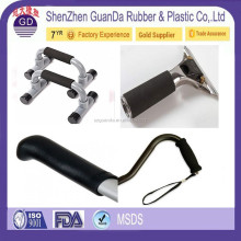 GuanngDong Silicone Rubber Handle Tool Grip / Gym Horizontal Bar Molded Grips / Garden Tool Handlebar Vulcanized Hand Grip