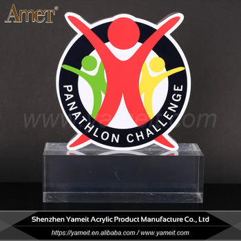 Wholesale Screen Printing Transparent Models Acrylic Trophy
