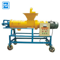 Hopper feeding screw press cow excrement dung dewater machine | animal manure dehydrating machine