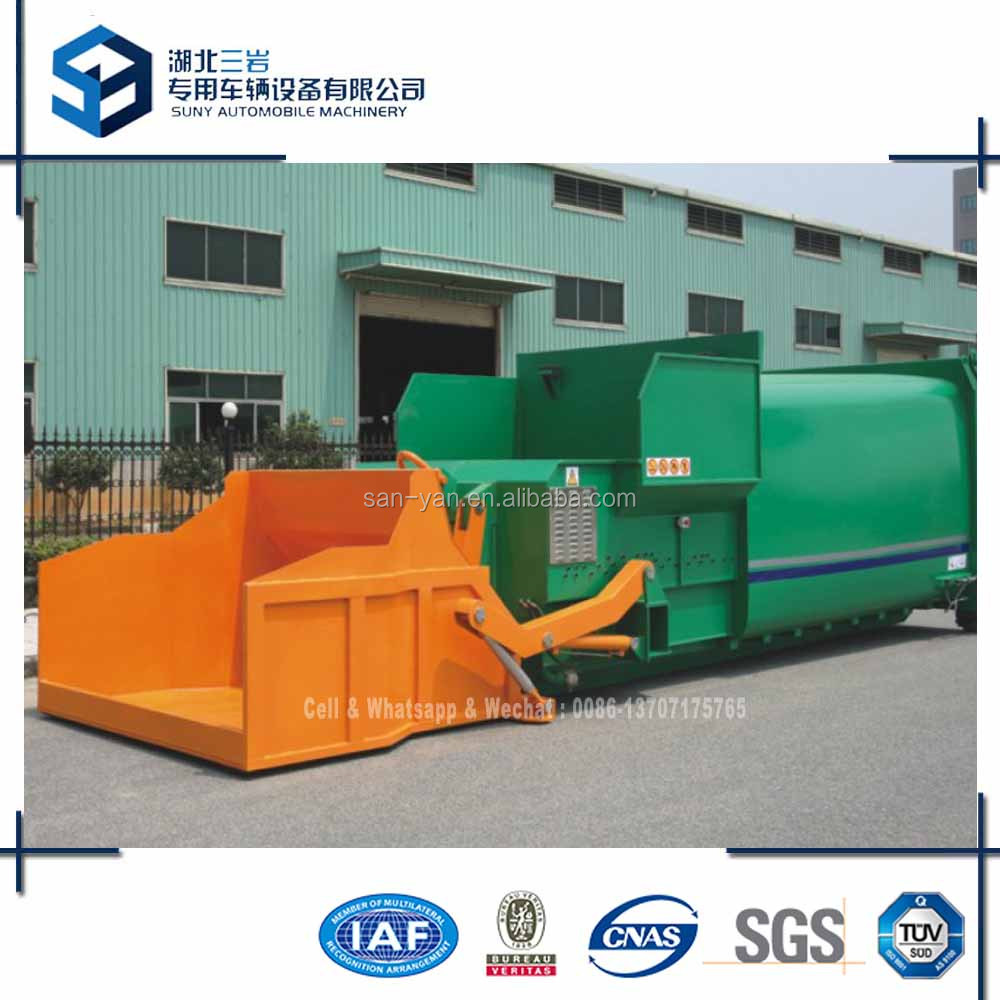 Movable Rubbish Compactor Container 6x4 Hook Lift Garbage Truck HOWO Refuse Truck