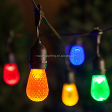 Outdoor Weatherproof Commercial Grade LED String Light with e26/ e27 1.8w s14 led bulb