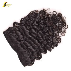 Beauty curly black clip in hair extensions/kinky hair clip on extensions/tight curly hair clip in extensions