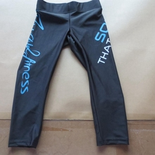 OEM 88% polyamide 12% elastane Compression legging fit tight fitness waist flag capri pants