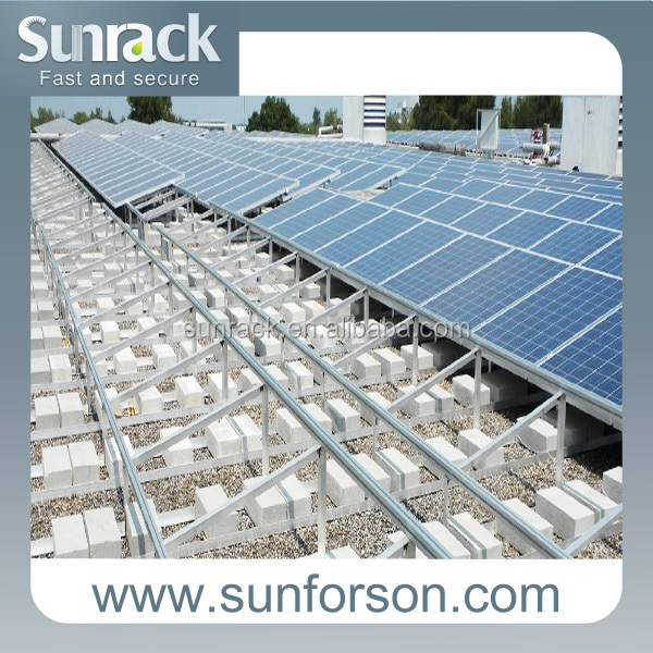 Rooftop Solar Triangle Mounting System Off Grid Solar Panels Installing