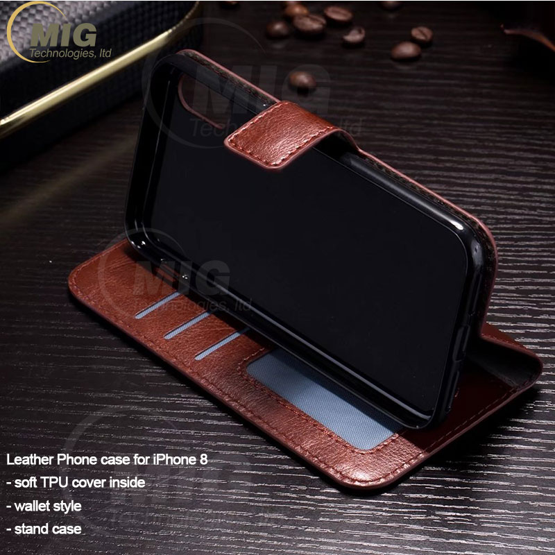 High quality Phone Case for iphone 8 Retro crazy horse style Flip Leather wallet Case with Stand Phone Accessory for iphone 8