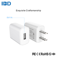 IBD Universal usb travel adapter 5v 1a ul certified usb wall charger with eu us plug